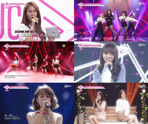 `프로듀스48` 장원영-야부키 나코, 줄곧 1위 제치고 1위 후보 올라