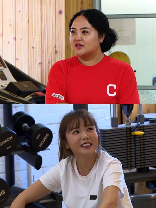'미우새' 홍선영, 20kg 감량 성공..홍진영 '운동 코치' 되다